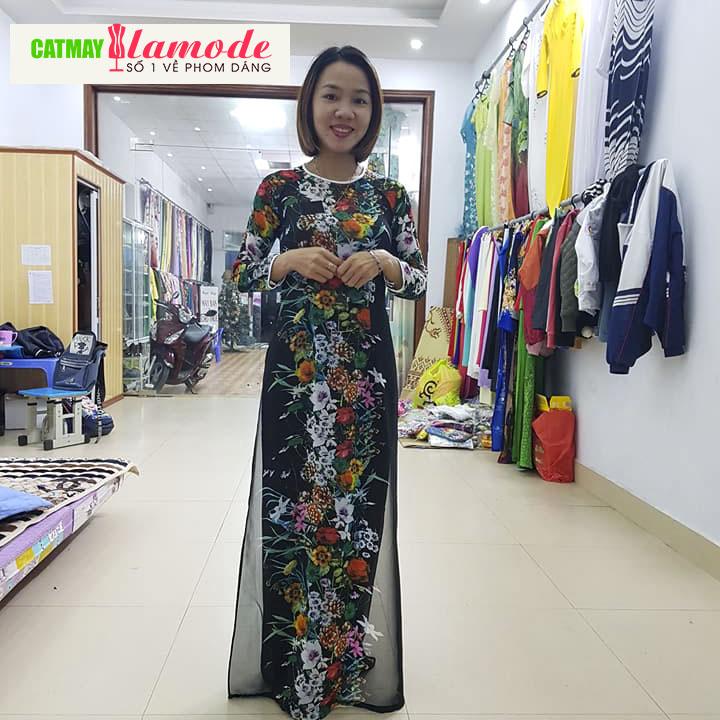 o dài được thiết kế bởi học viên Cắt May Alamode 14 - Học may áo dài | Lớp dạy học may áo dài chuyên nghiệp