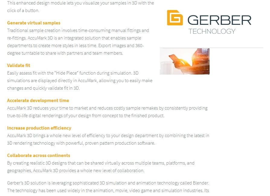 cong dung Gerber - Phần mềm thiết kế rập Gerber Accumark