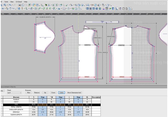 nhay size optitex - Phần mềm Optitex: Thiết kế rập- nhảy size- giác sơ đồ