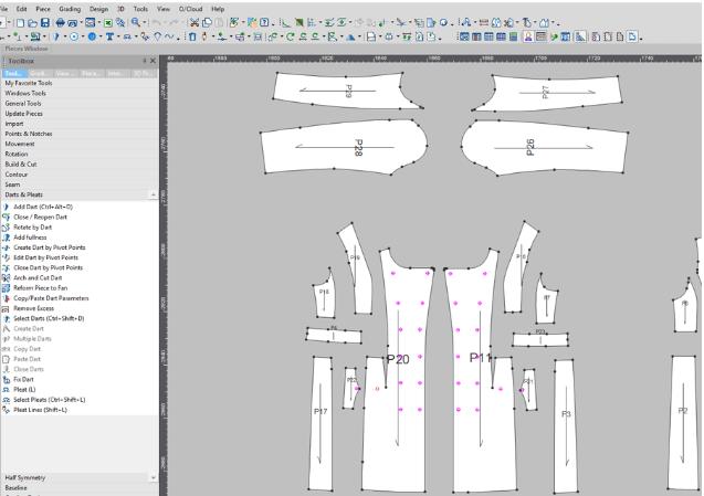 thiet ke rap 2d 3d optitex - Phần mềm Optitex: Thiết kế rập- nhảy size- giác sơ đồ